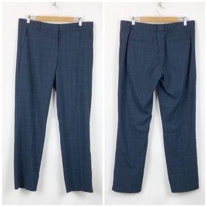 Gap Navy Plaid Stretch Career True Straight Pants
